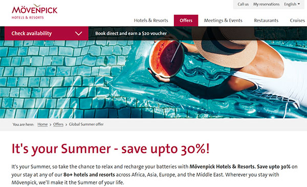 Movenpick hotels resorts promo code
